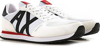 A|X Armani Exchange Sneaker für Herren, Tennisschuh, Turnschuh Günstig im Sale, Weiss, Wildleder, 2019, 40 41 42 43 45 46