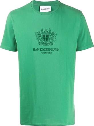 Han Kjobenhavn Camiseta com logo - Verde