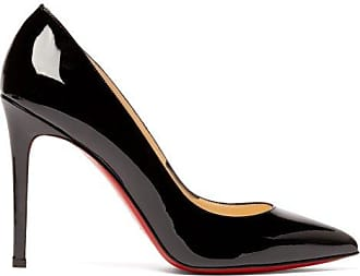 Christian Louboutin Pigalle 100 Patent-leather Pumps - Womens - Black
