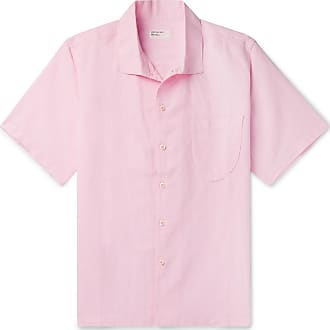 Universal Works Overdyed Linen And Cotton-blend Shirt - Pink