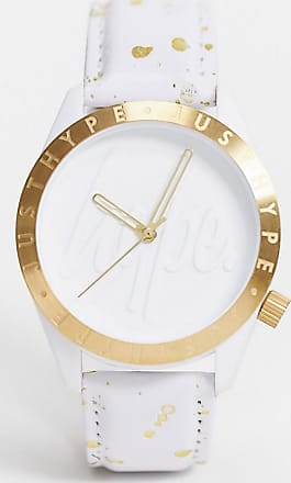 Hype white and gold speckle watch