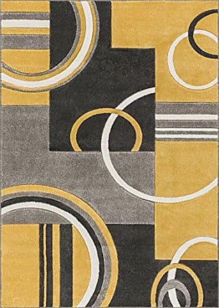 Well Woven 600117 Gold Galaxy Waves Modern Abstract Arcs and Shapes 710 x 910 Area Rug