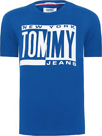 Tommy Jeans CAMISETA MASCULINA BOX LOGO - AZUL
