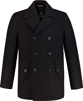 JP1880 Mens Big & Tall Pea Jacket Black XXXXX-Large 700196 10-5XL