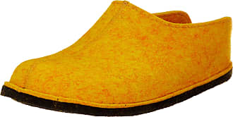 Haflinger Unisex Adults Flair Smily Open Back Slippers, Yellow (Mais 252), 14.5 UK