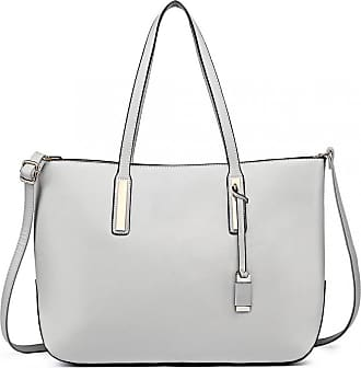Quirk Leather Look Large Shoulder 3-in-1 Tote Bag Grey