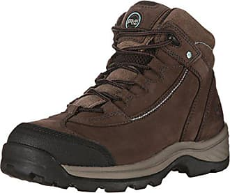 Timberland PRO Womens CSA Ratchet Hiker Work Boot, Brown Nubuck Leather, 6 W US