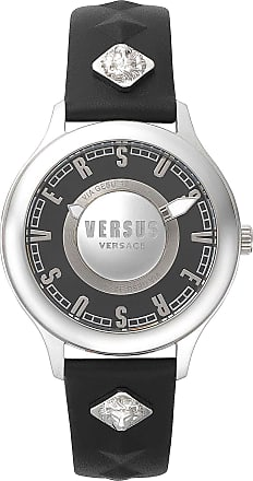 Versace Watch for Women On Sale, Black, Leather, 2017, One Size