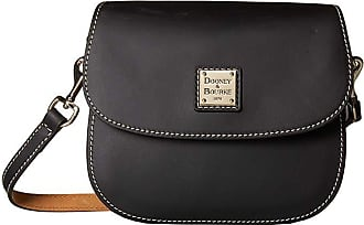 Dooney & Bourke Beacon Saddle Crossbody (Black/Black Trim) Cross Body Handbags