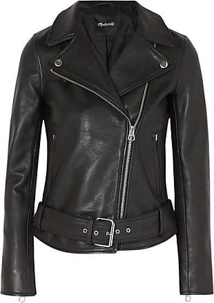 fcdd5641fd Madewell Ultimate Textured-leather Biker Jacket - Black