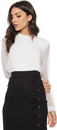 Vero Moda Blusa Vero Moda Pregas Branca