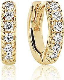 Sif Jakobs Jewellery Earrings Ellera Piccolo - 18k gold plated with white zirconia
