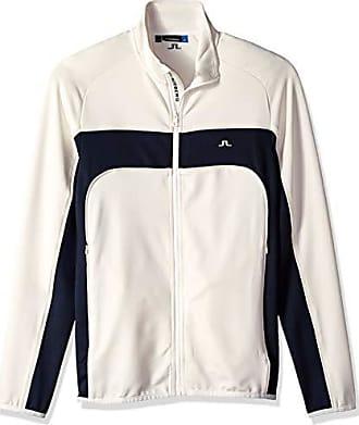 J.Lindeberg Mens Tech Midlayer Jacket, White Small