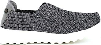 bernie mev. Womens Zip Fly Slip-On Sneaker (Heather Grey, 8)
