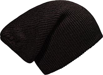 DonDon winter hat for Women and Men Slouch beanie warm classical design Brown - Black