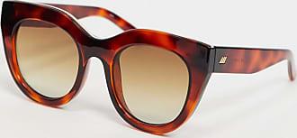 Le Specs Oversized cat eye-zonnebril in tortoise-Bruin