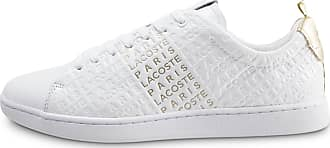 0b3ed5c132e Lacoste Femme Carnaby Evo Blanche Et Or Baskets