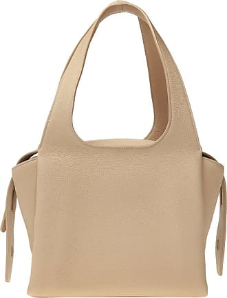 The Row TR1 Leather Shoulder Bag Womens Beige