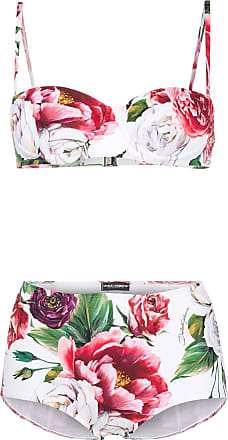 Dolce & Gabbana Conjunto de biquíni com estampa Peony - Branco