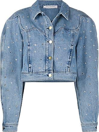 Philosophy di Lorenzo Serafini embellished cropped denim jacket - Blue