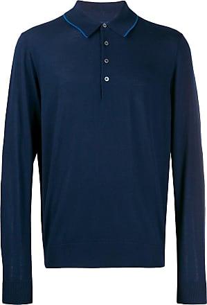 Paul Smith knitted polo shirt - Azul