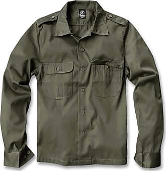 Brandit Mens US Hemd Langarm Shirt, Olive, XXXXX-Large