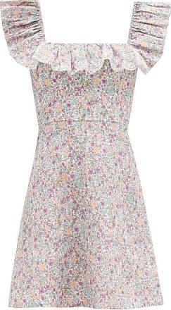 Zimmermann Carnaby Ruffled Floral-print Cotton Mini Dress - Womens - White Print
