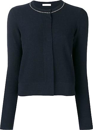 Fabiana Filippi concealed fastening cardigan - Blue