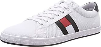 big sale 4b2a7 14eaa Tommy Hilfiger Essential Flag Detail,, Baskets Basses Homme, Blanc (White  100)