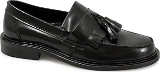 Ikon SELECTA Mens Polished Leather Tassel Loafers Black UK 9