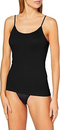 Naturana Womens Spaghetti Strap Vest Tank Top, Black (Black), 18 (Manufacturer Size:XX-Large)