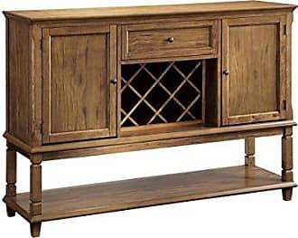 Coaster Fine Furniture Parkins 2-door Server with Wine Rack Rustic Amber