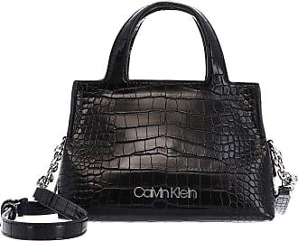 Calvin Klein Neat Croc Tote Mini Black