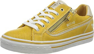Mustang Womens 1354-304-6 Low-Top Sneakers, Yellow (Gelb 6), 3.5 UK