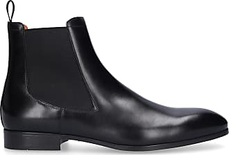 Santoni Chelsea Boots 13414 calfskin Logo black
