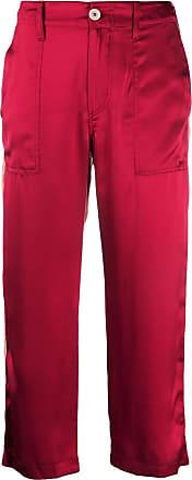 JEJIA Calça cropped bicolor - Vermelho