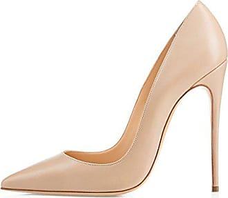 ed9b70d5cfbea1 EDEFS Damenschuhe Faschion SUKaite 120mm Spitzschuh klassische Partei dünne Pumps  Stiletto Schuhe Nude EU38