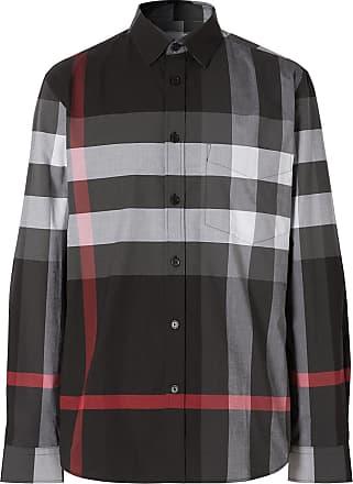 Burberry Camisa xadrez - Cinza