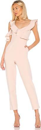 Bcbgmaxazria Ruffle Top Jumpsuit in Pink
