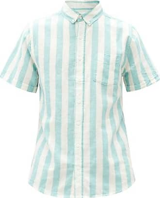 Onia Jack Striped Linen-blend Shirt - Mens - Blue Multi