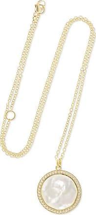Ippolita Lollipop Medium 18-karat Gold, Mother-of-pearl And Diamond Necklace