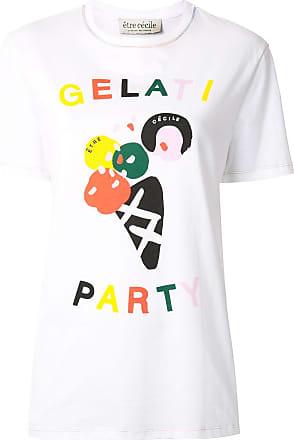 être cécile Gelati Party logo T-Shirt - White