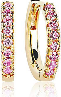 Sif Jakobs Jewellery Earrings Ellera medio - 18k gold plated with pink zirconia