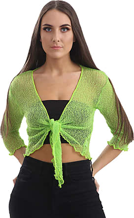 Love my Fashions Ashlee Viscose Light Weight Cropped Shrug Lime Green