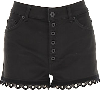 Dondup Shorts for Women On Sale, Black, Cotton, 2019, 26 27 28 29 30
