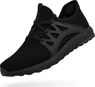 Zocavia Men Women Trainers Lightweight Running Sports Shoes Outdoor Non Slip Walking Gym Fitness Athletic Shoes Black