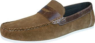 Redtape Wardon Mens Leather Suede Slip On Moccasins/Shoes-Tan-9