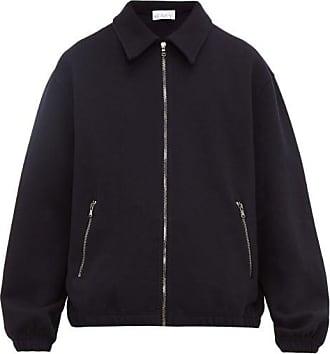 Raey Zip-up Cotton-jersey Jacket - Mens - Navy