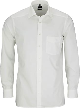 Olymp Olymp Modern Fit New Kent Collar Shirt Long Sleeve M - beige - 15.5