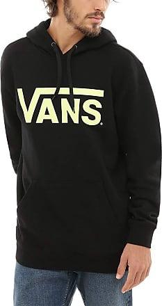 1e26ba40f6 Vans Mens Classic Pullover Hoodie (Black-Sunny Lime Td)